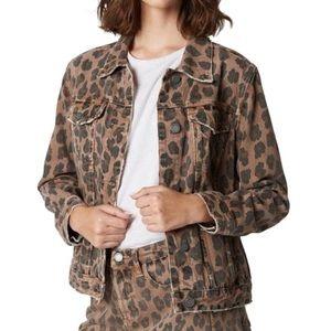 NWT BLANK NYC brown cheetah jacket size large